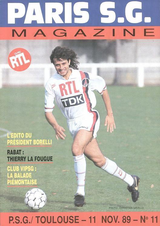1989-11-11  PSG-Toulouse (19ème D1, Paris SG Magazine N°11)