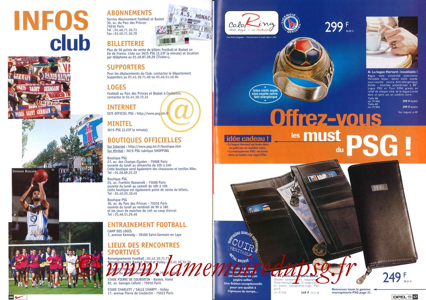 Catalogue PSG - 1998-99 - Pages 46 et 47