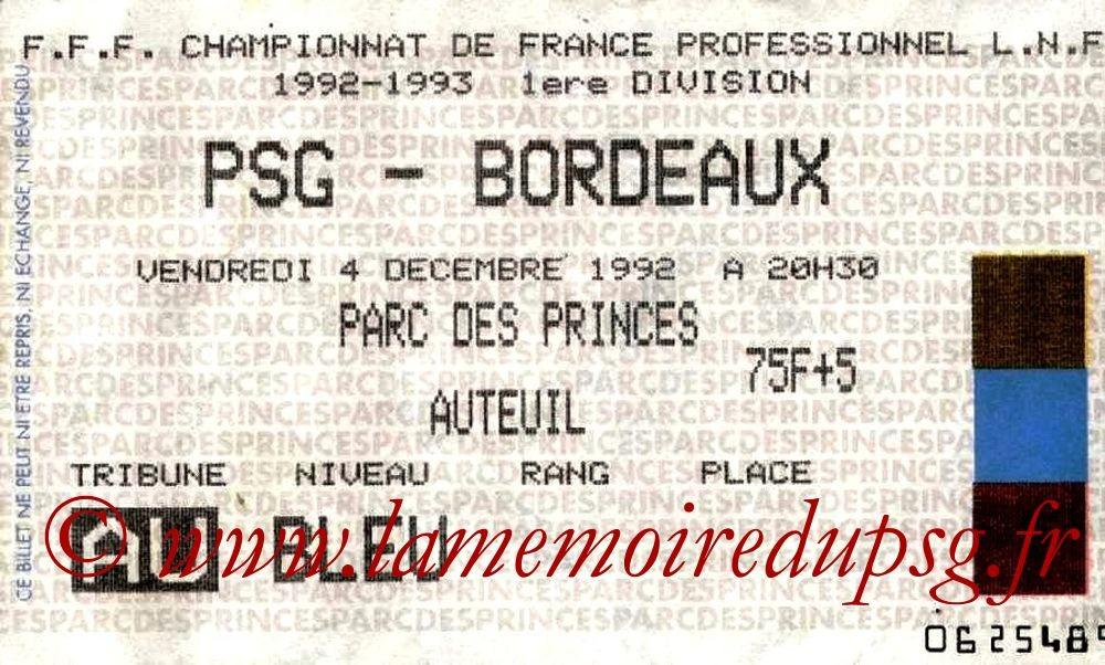 1992-12-04  PSG-Bordeaux (17ème D1)