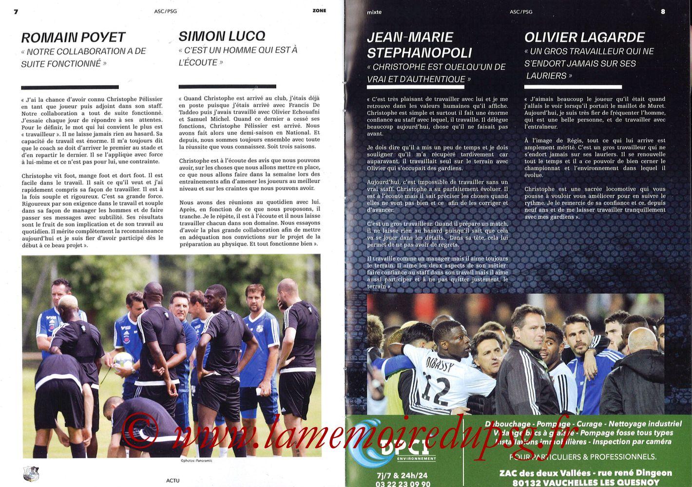 2018-05-04  Amiens-PSG (36ème L1, Zone Mixte N°13) - Pages 08 et 09