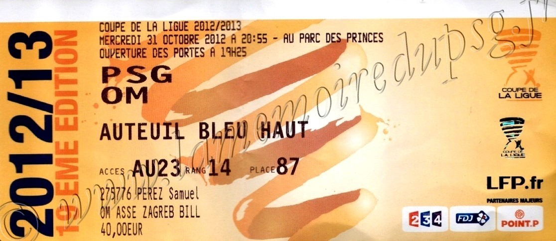2012-10-31  PSG-Marseille (8ème Finale CL)