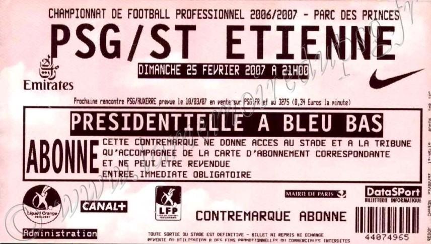 2007-02-25  PSG-Saint Etienne (26ème L1)