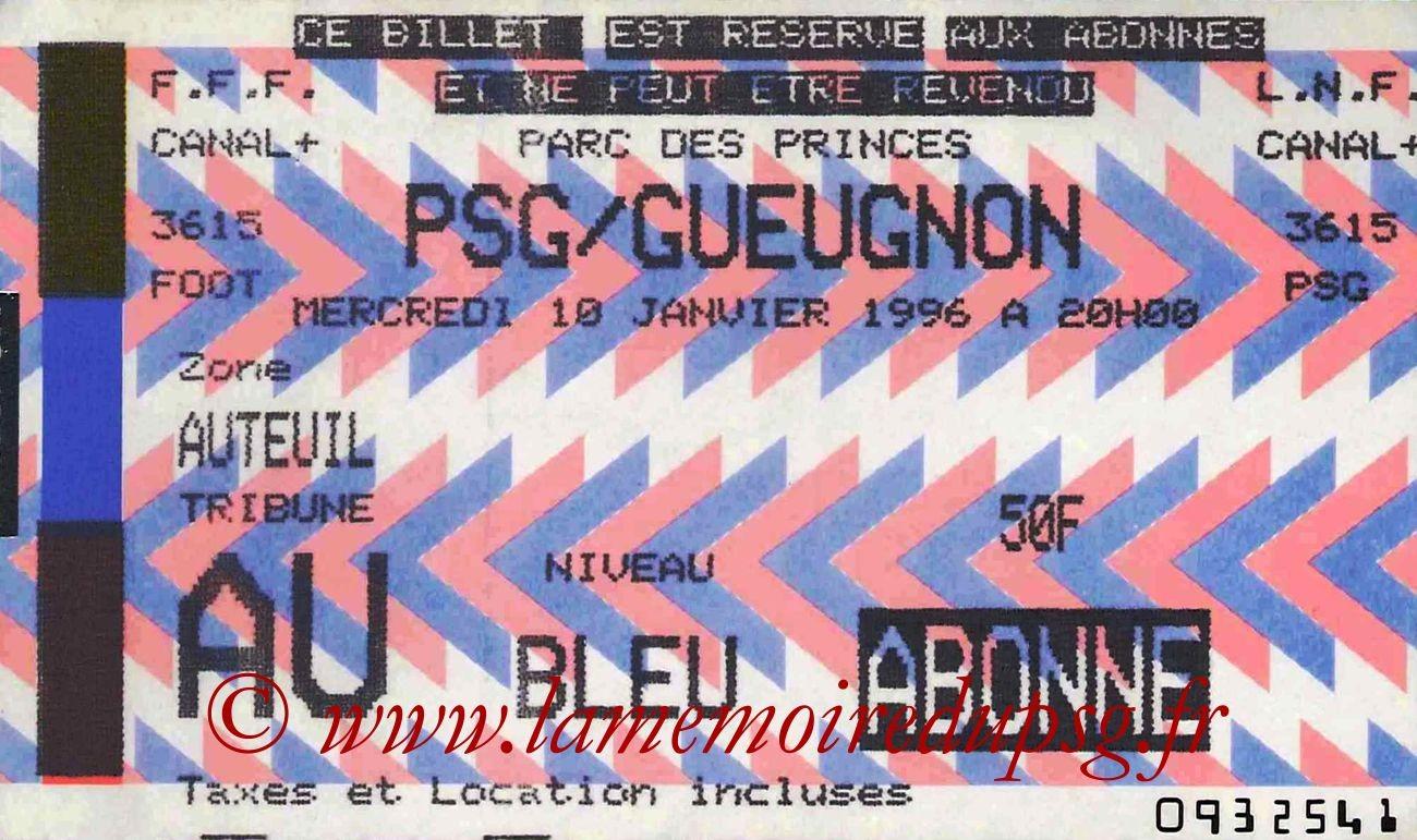 1996-01-10  PSG-Gueugnon (23ème D1, bis)