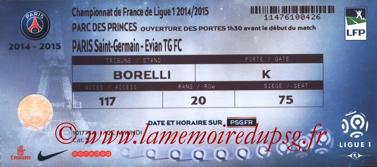 2015-01-18  PSG-Evian (21ème L1)