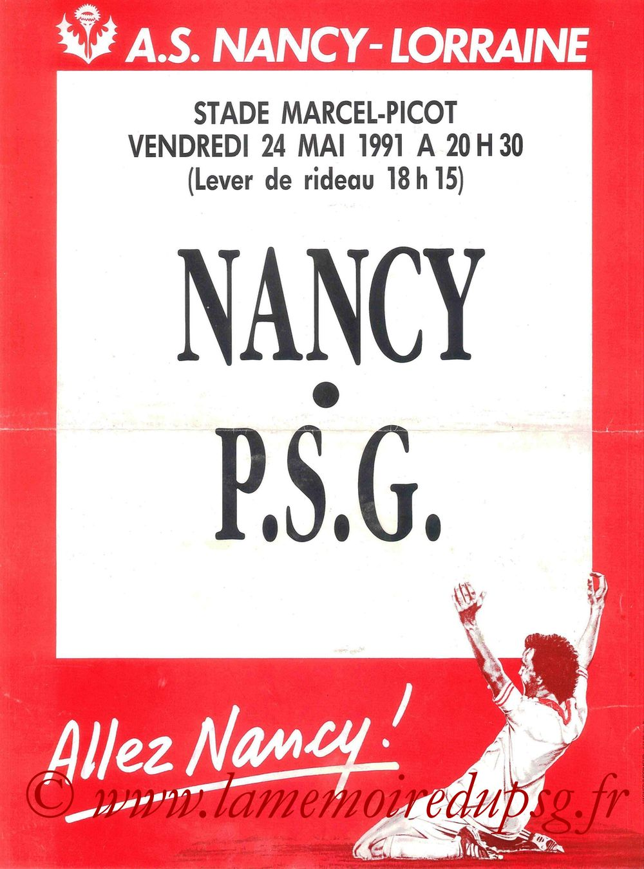 1991-05-24  Nancy-PSG (38ème D1, Affiche)