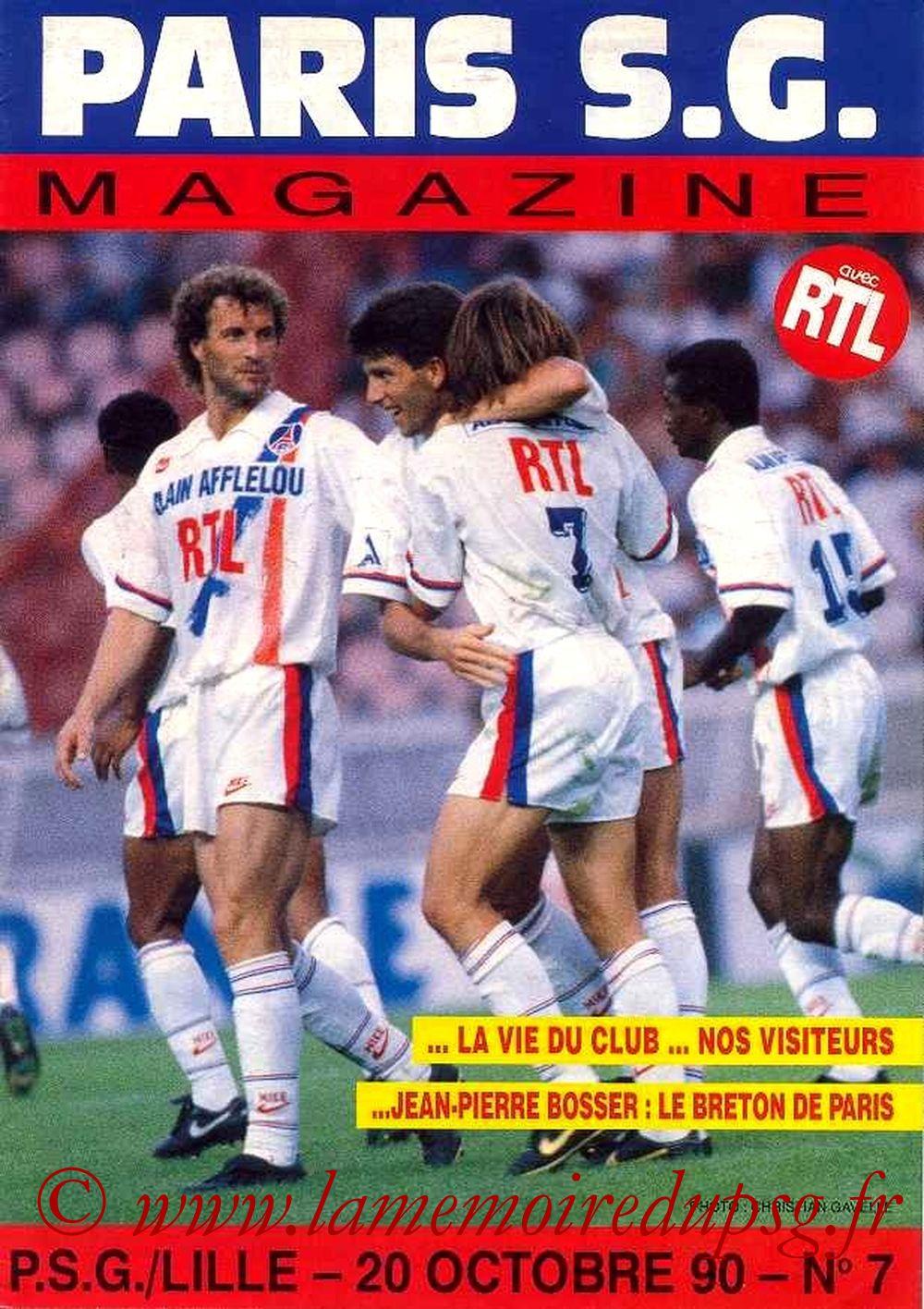 1990-10-20  PSG-Lille  (13ème D1, Paris SG Magazine N°7)