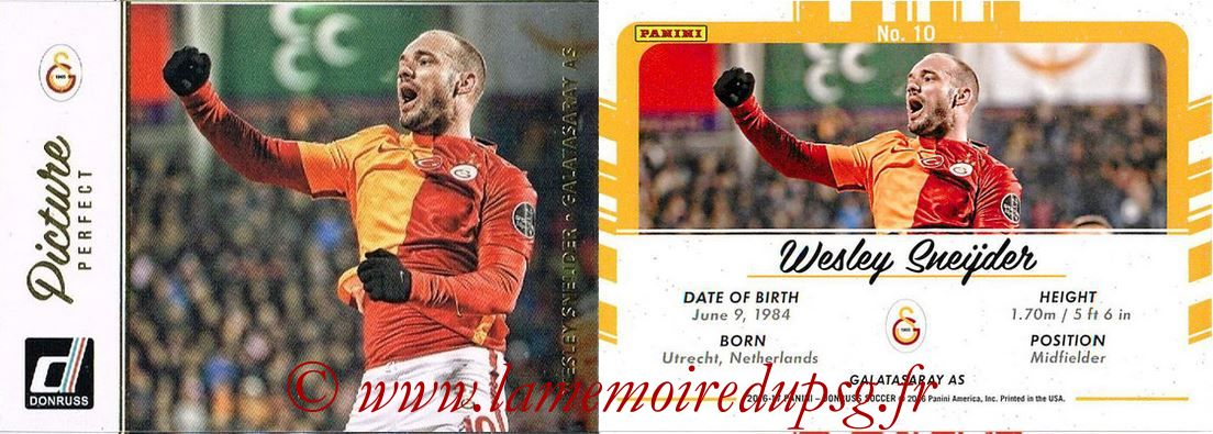 2016 - Panini Donruss Cards - N° PP10 - Wesley SNEIJDER (Galatasaray AS) (Picture Perfect)
