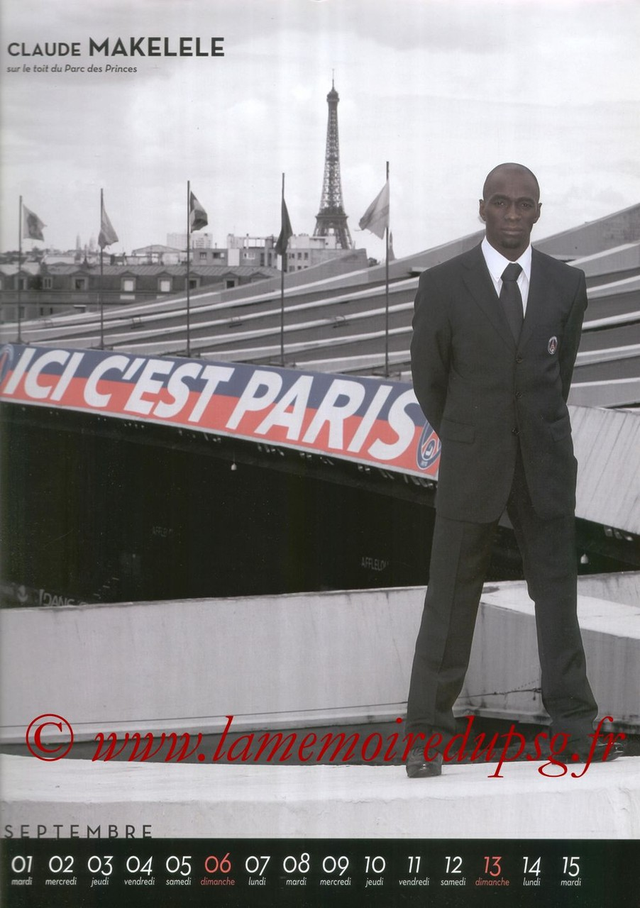 Calendrier PSG 2009 - Page 17 - Claude MAKELELE