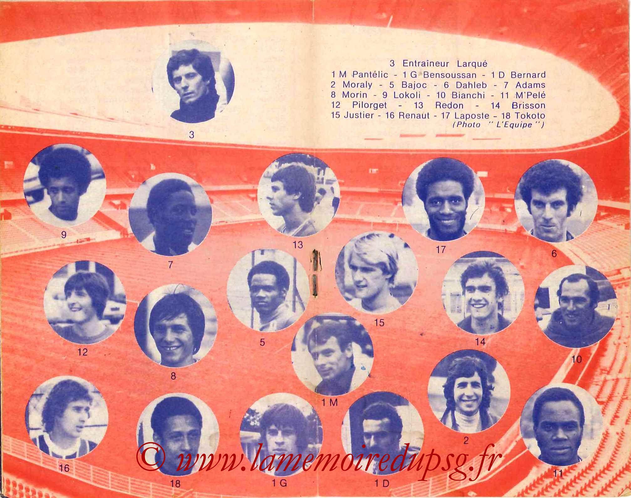 1977-78 - Guide de la Saison PSG - Pages 6 et 7