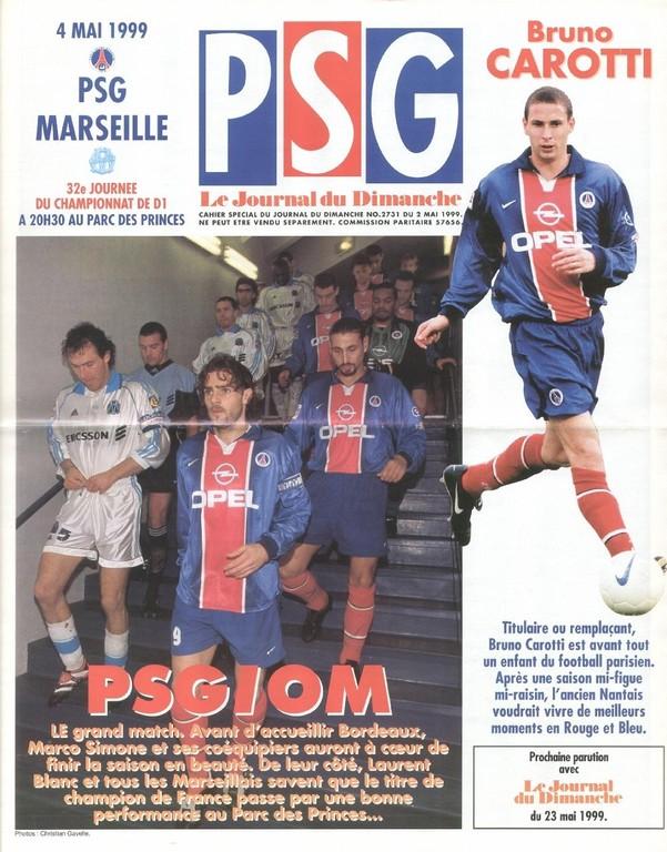 1999-05-04  PSG-Marseille (32ème D1, Le Journal du PSG N°74)