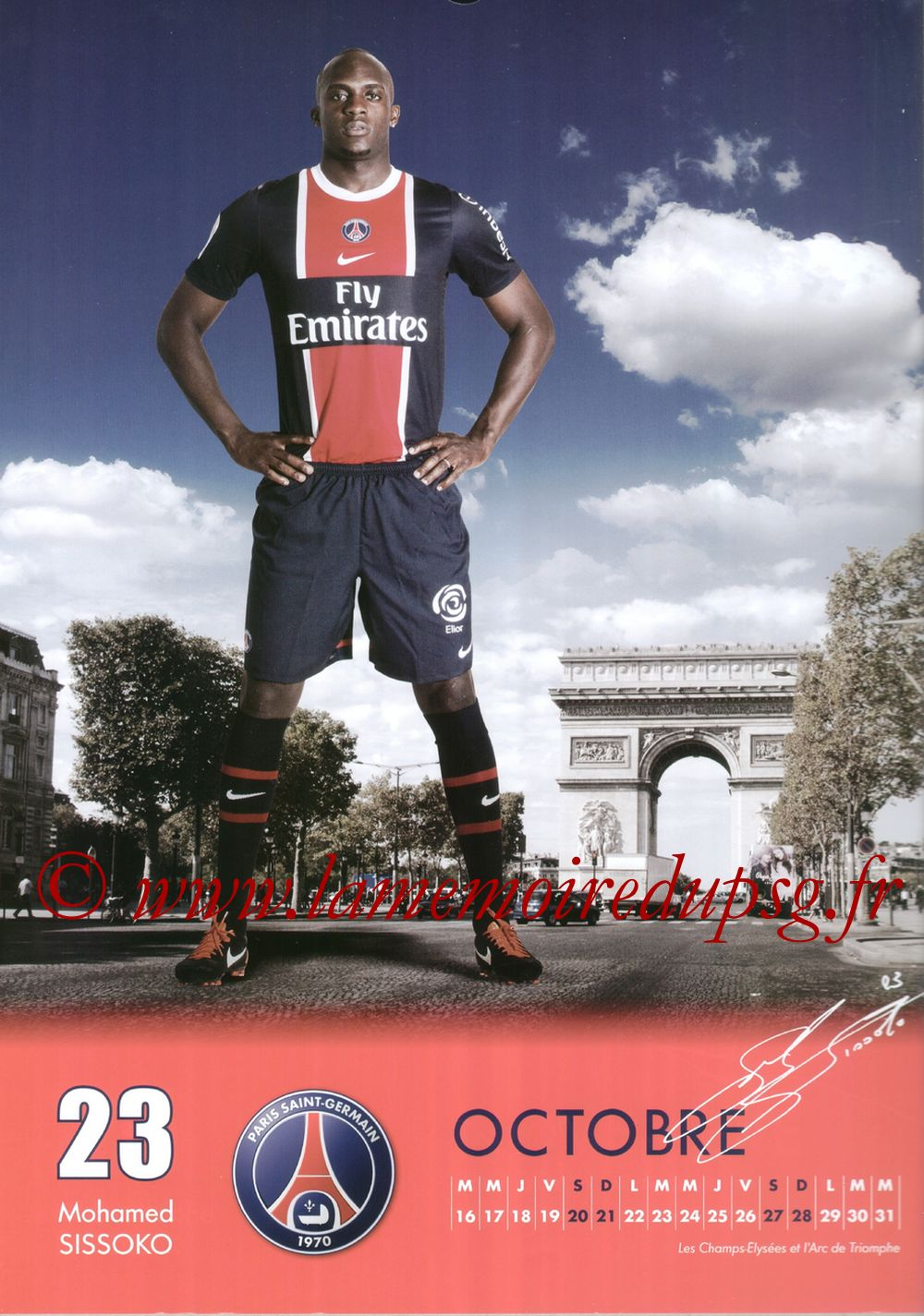 Calendrier PSG 2012 - Page 20 - Mohamed SISSOKO