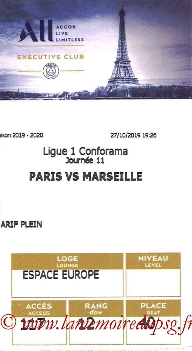 2019-10-27  PSG-Marseille (11ème L1, E-ticket executive club)
