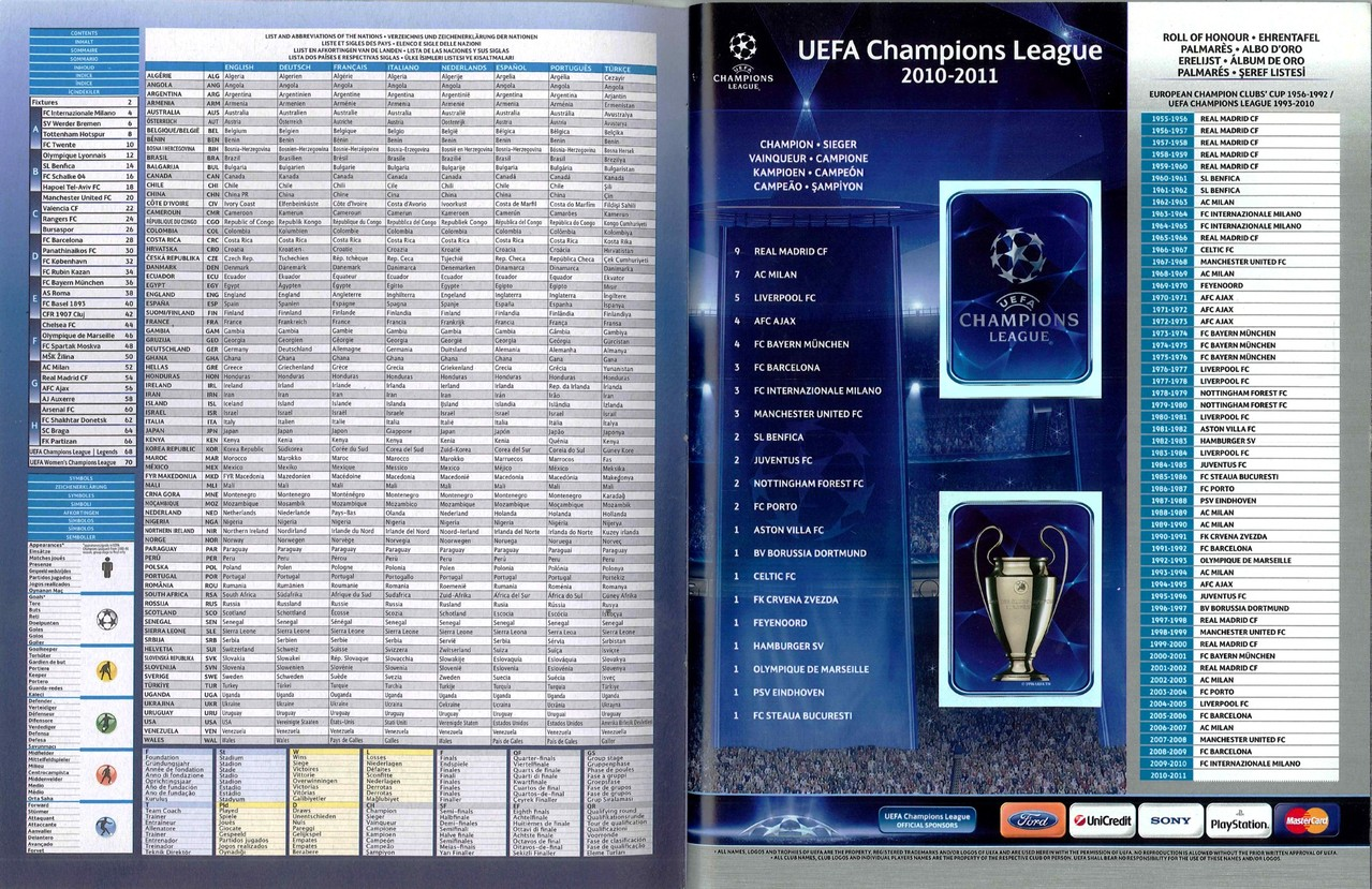 2010-11 - Panini Champions League - Pages 00 et 01