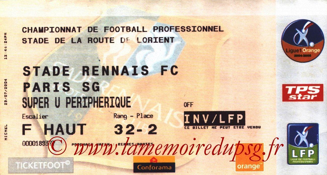 2004-08-07  Rennes-PSG (1ère L1)