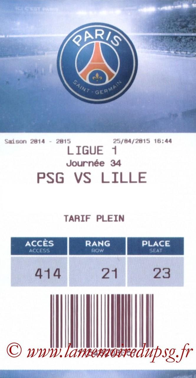 2015-04-25  PSG-Lille (34ème L1, E-ticket)