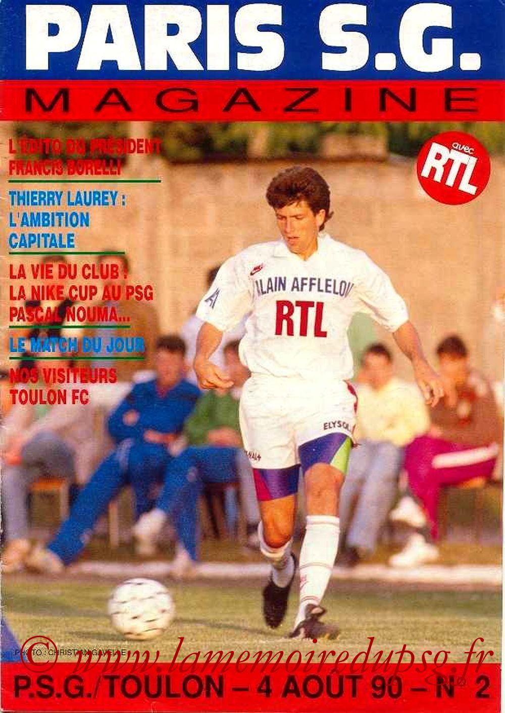1990-08-04  PSG-Toulon (3ème D1, Paris SG Magazine N°2)
