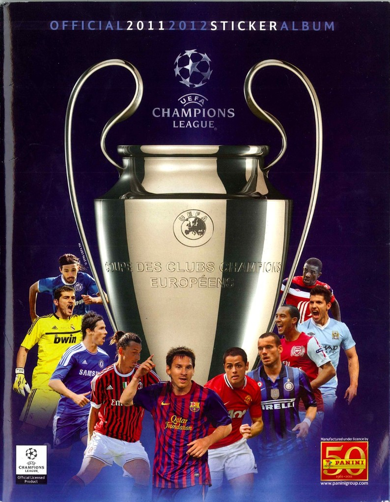 2011-12 - Panini Champions League - Couverture