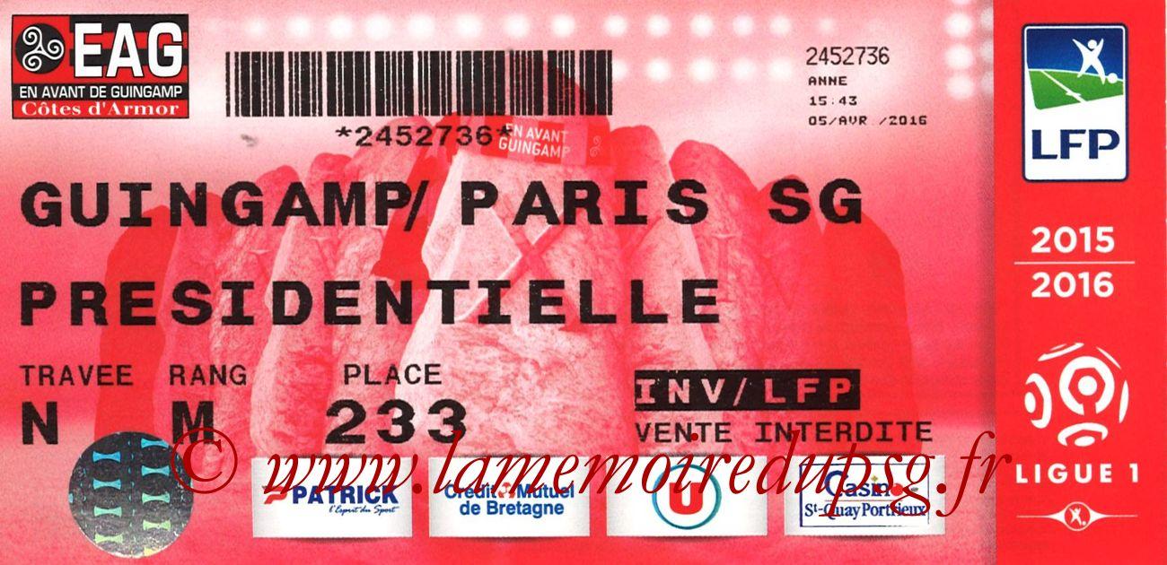 2016-04-09  Guingamp-PSG (33ème L1)