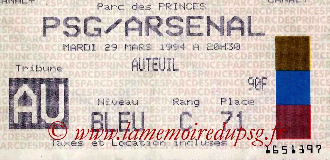 1994-03-29  PSG-Arsenal (Demi-Finale Aller C2)