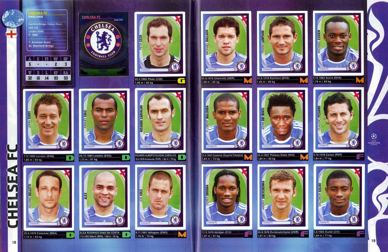 2007-08 - Panini Champions League - Pages 18 et 19 - Chelsea FC
