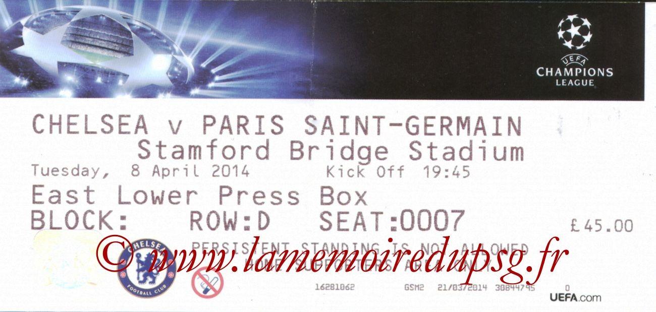 2014-04-08  Chelsea-PSG (Quart finale Retour C1)
