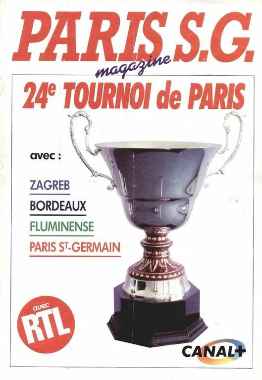 1987-07-09 et 10 PSG-Fluminense et PSG-Dynamo Zagreb (24ème Tournoi de Paris, Paris SG Magazine HS)
