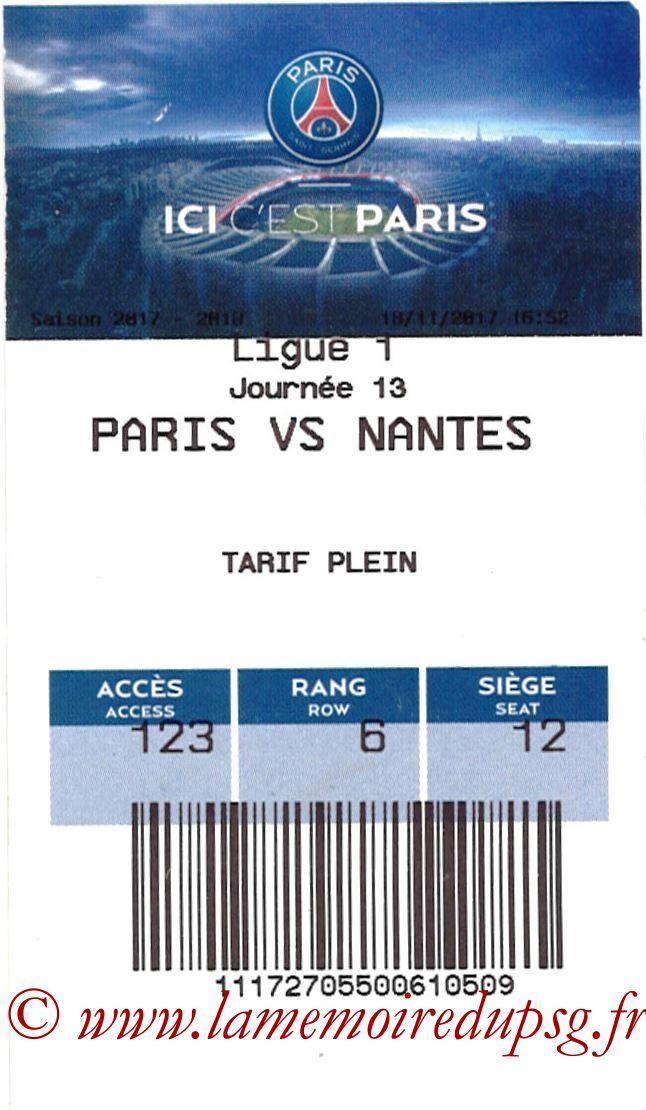 2017-11-18  PSG-Nantes (13ème L1, E-ticket)