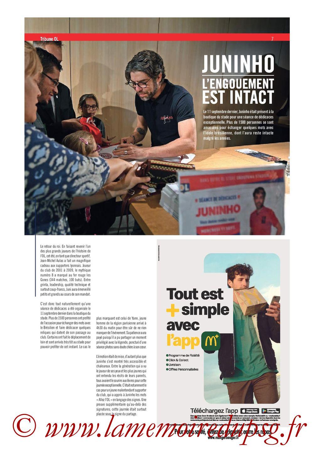 2019-09-22  Lyon-PSG (6ème L1, Tribune OL N°284) - Page 07