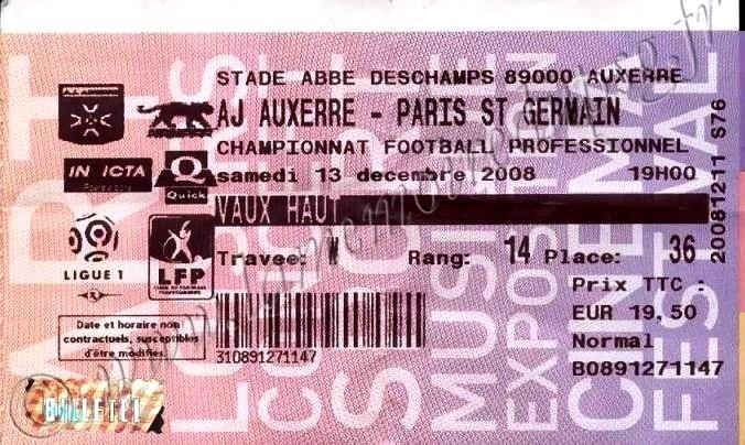 2008-12-13  Auxerre-PSG (18ème L1, Billetel)