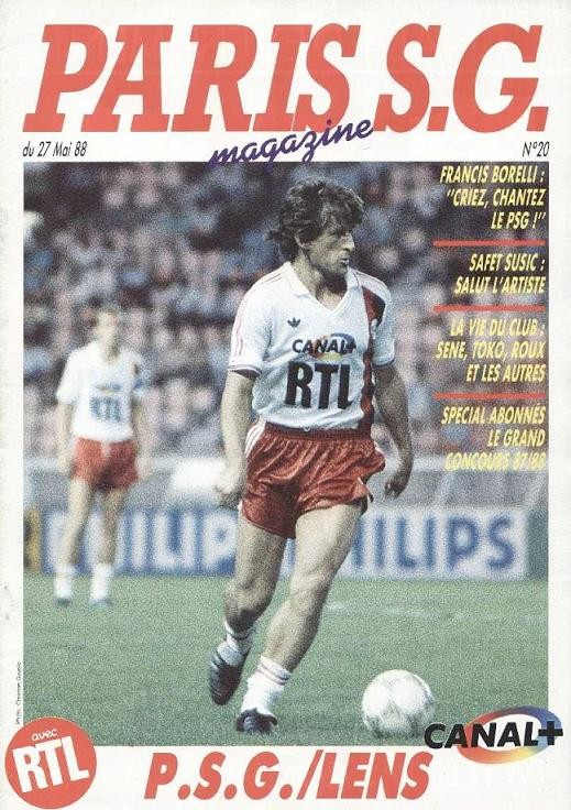 1988-05-27  PSG-Lens (37ème D1, Paris SG Magazine N°20)