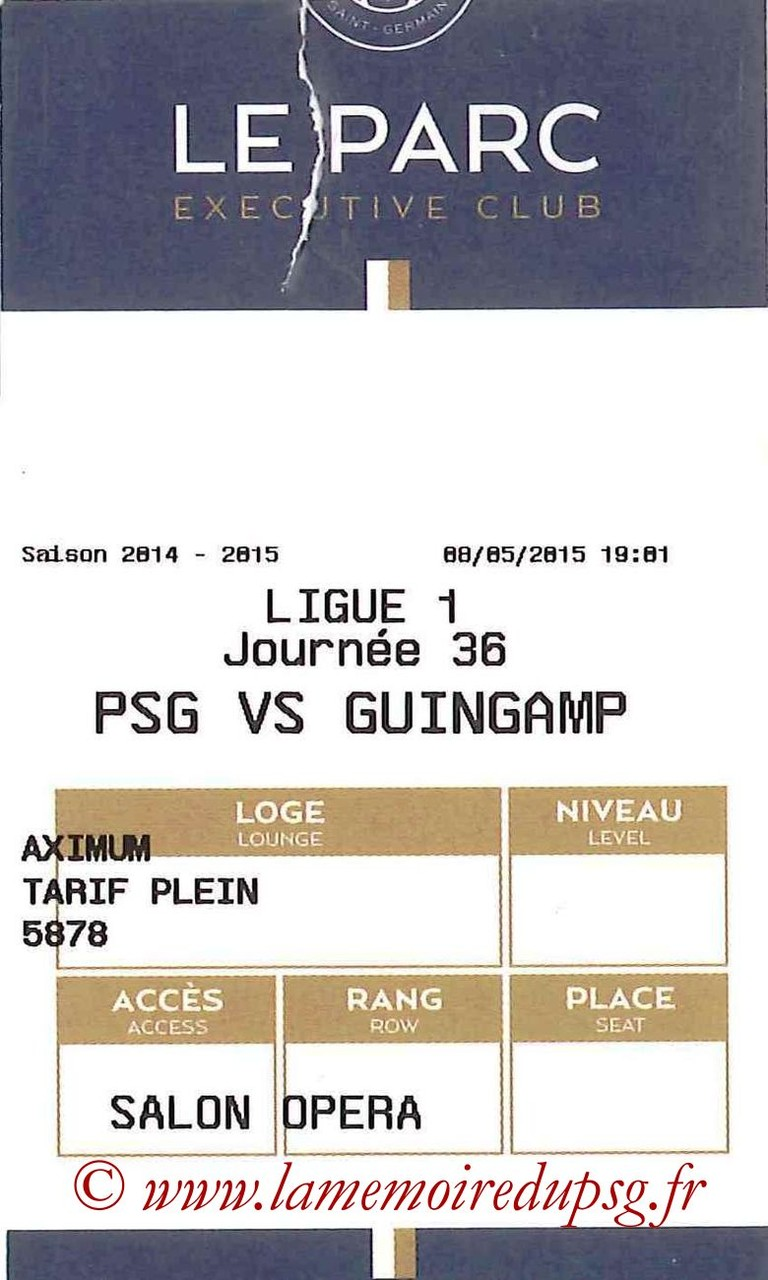 2015-05-08  PSG-Guingamp (36ème L1, E-ticket executive club)
