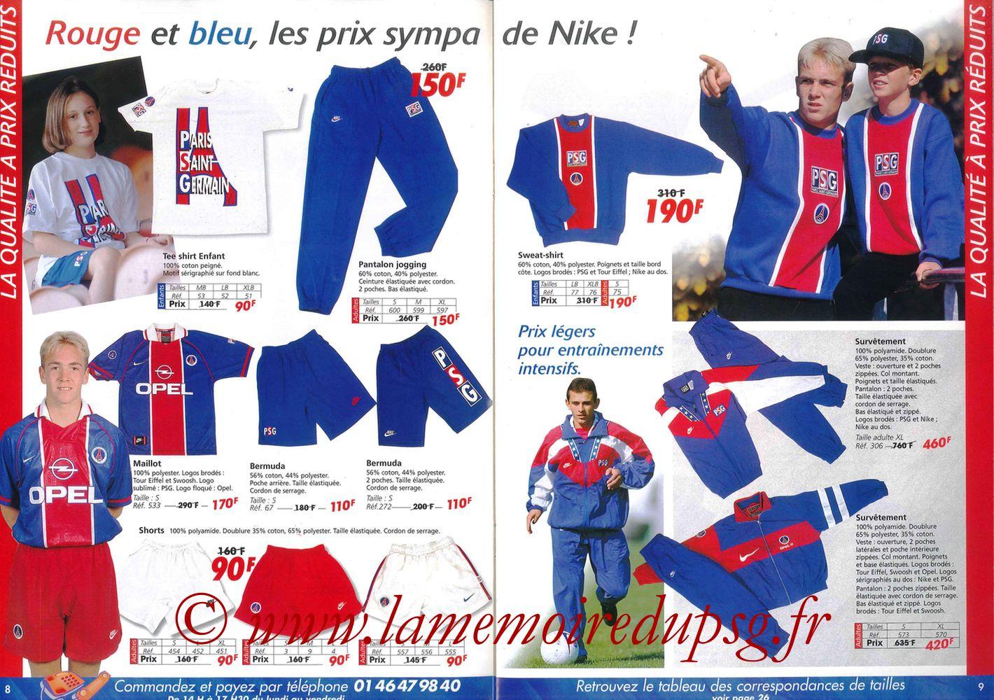 Catalogue PSG - 1997-98 - Pages 08 et 09