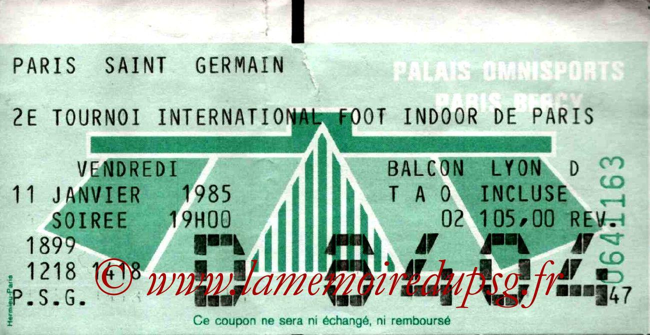 1985-01-11  PSG-Auxerre et PSG-Flamengo (2ème tournoi indoor de Bercy)