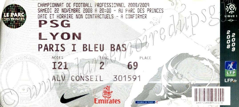 2008-11-22  PSG-Lyon (15ème L1)bis