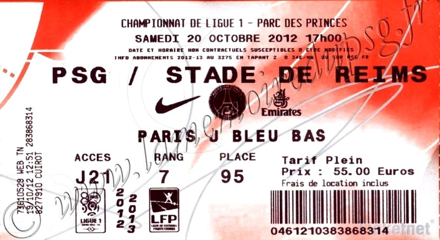 2012-10-20  PSG-Reims (9ème L1, Ticketnet)