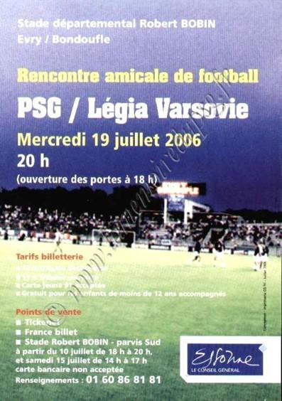2006-07-19  PSG-Legia Varsovie (Amical à Evry, Affichette)