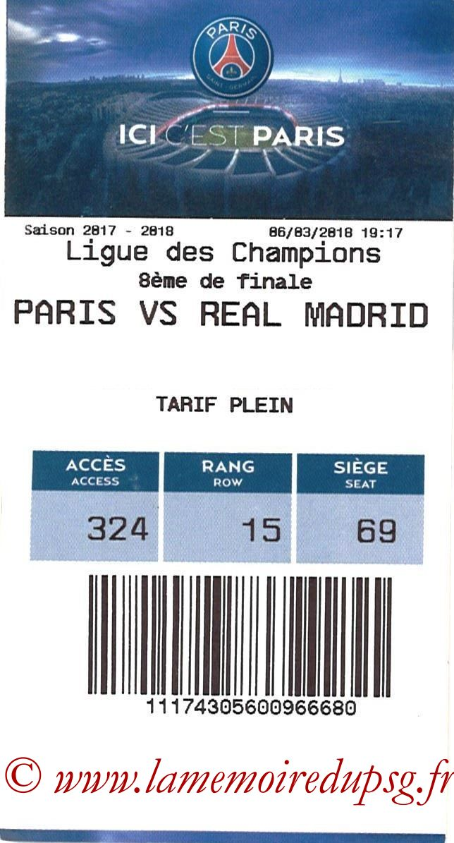 2018-03-06  PSG-Real Madrid (8ème Retour C1, E-ticket)