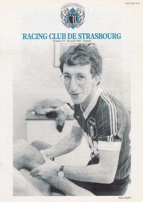 1989-04-12  Strasbourg-PSG (33ème D1, Programme officiel N° 17)
