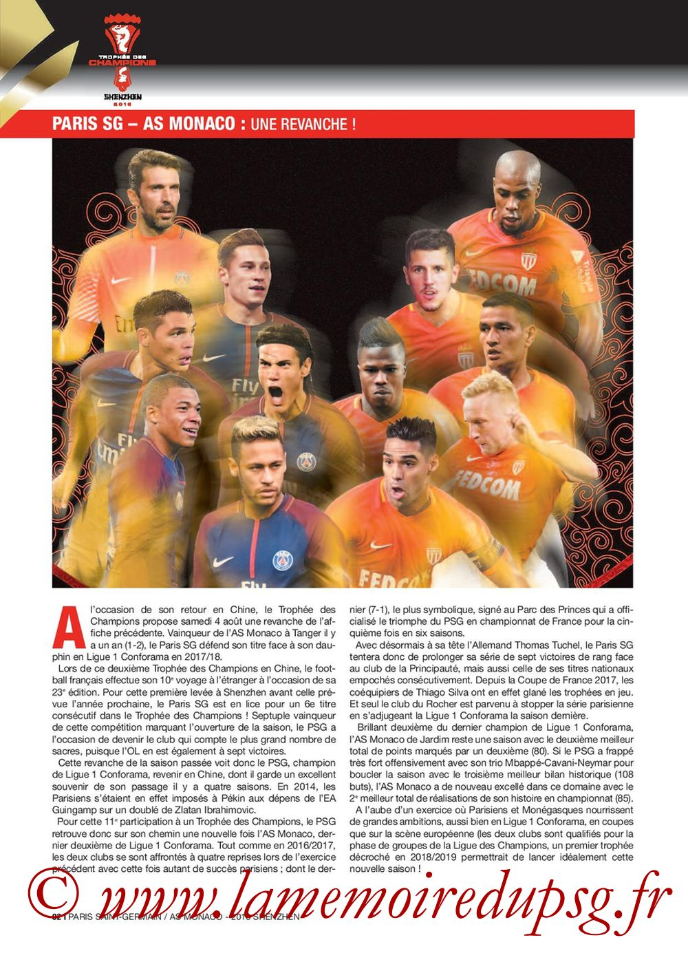 2018-08-04  PSG-Monaco (Trophée des Champions à Shenzhen, Dossier de Presse) - Page 02