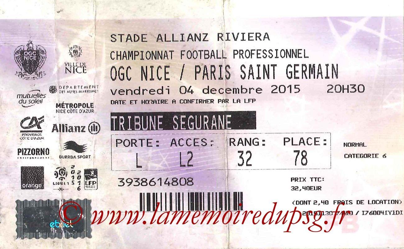 2015-12-04  Nice-PSG (17ème L1, Tickenet)
