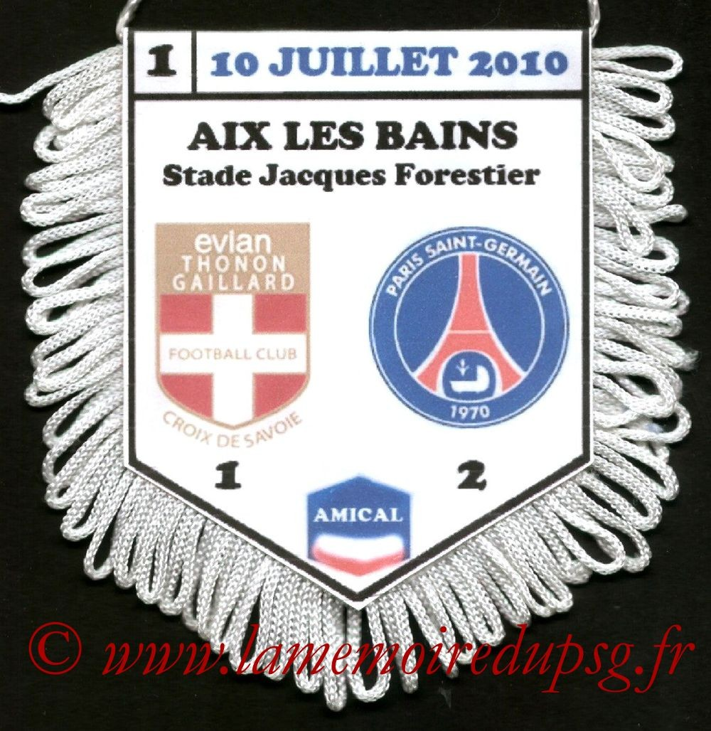 2010-07-10  Evian TG-PSG (Amical à Sarzeau)