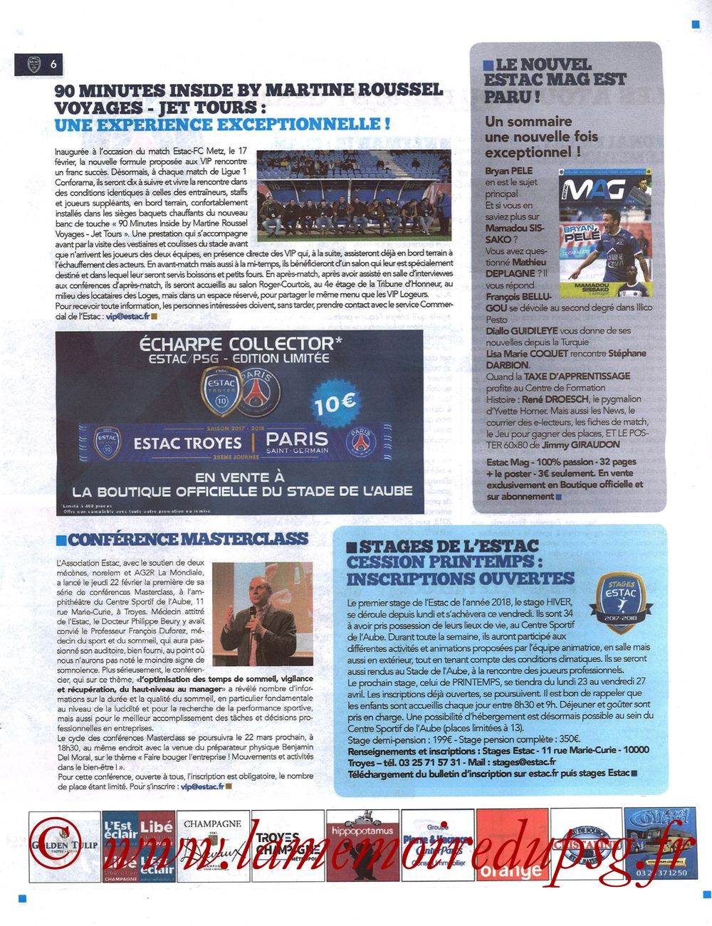 2018-03-03  Troyes-PSG (28ème L1, Bleu et Blanc N°15) - Page 06