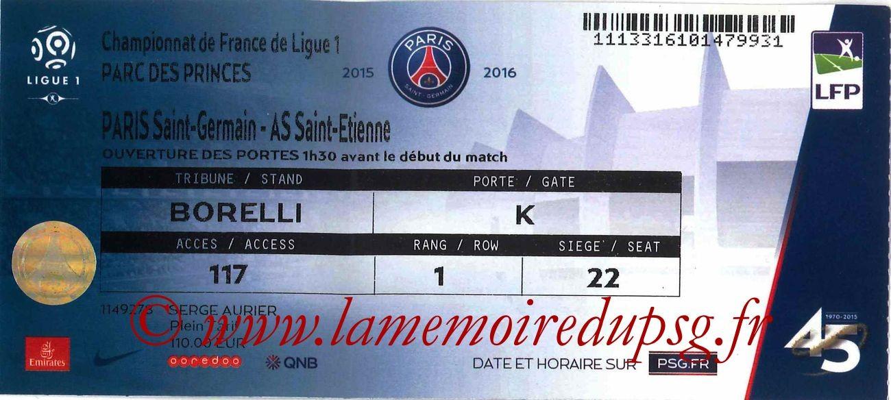 2015-10-25  PSG-Saint Etienne (11ème L1)