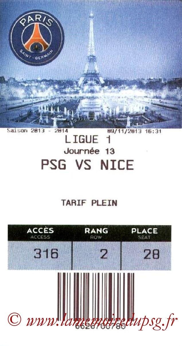 2013-11-09  PSG-Nice (13ème L1, E-Ticket)