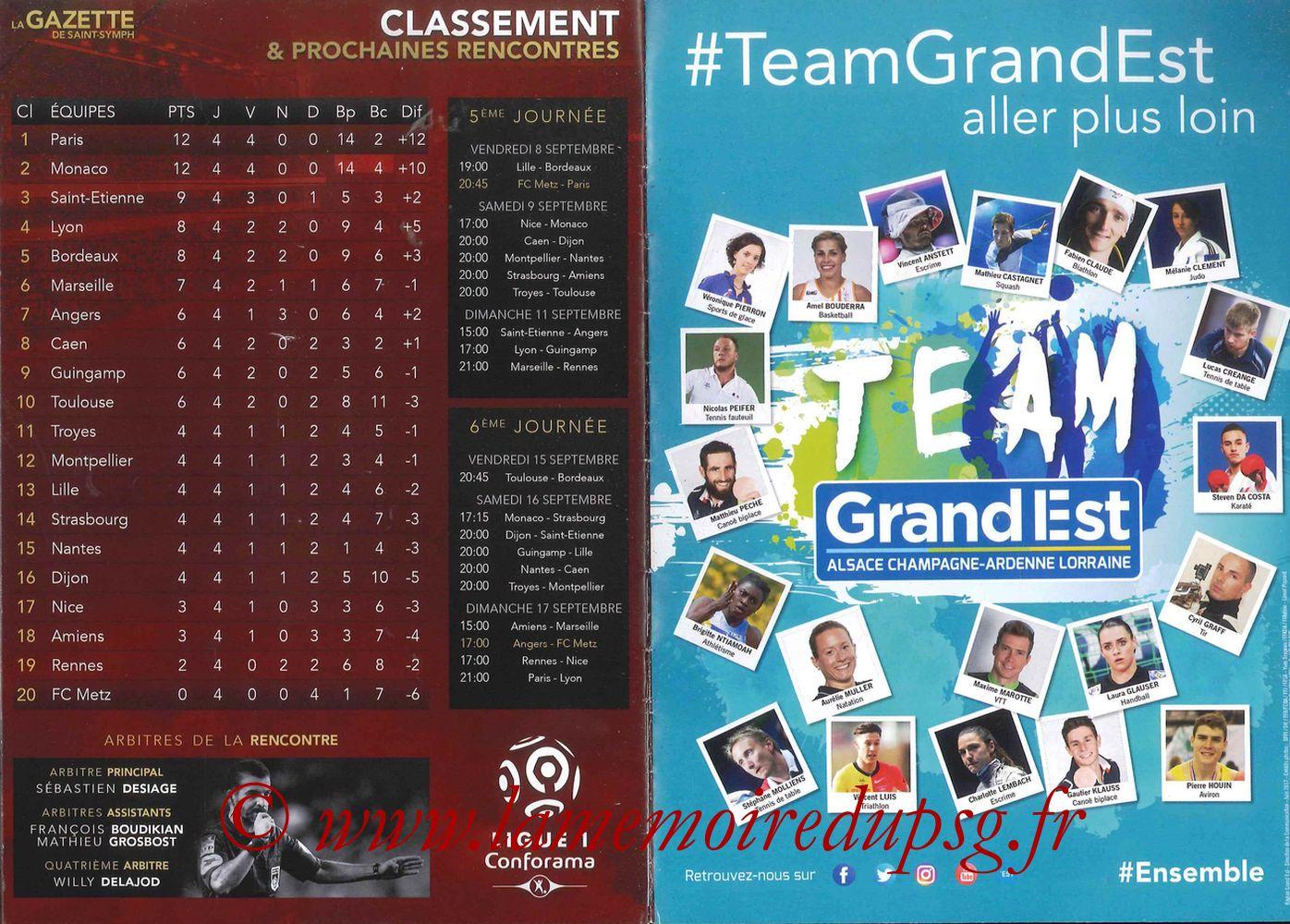 2017-09-08  Metz-PSG ((5ème L1, La Gazette de Saint-Symph) - Pages 14 et 15