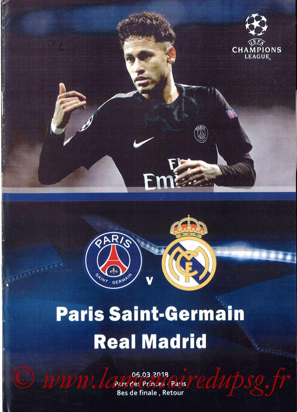 2018-03-06  PSG-Real Madrid (8ème C1 retour, Programme pirate)