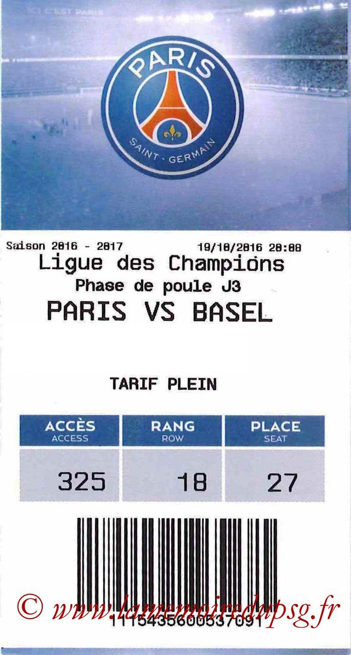 2016-10-19  PSG-FC Bale (3ème C1, E-ticket)
