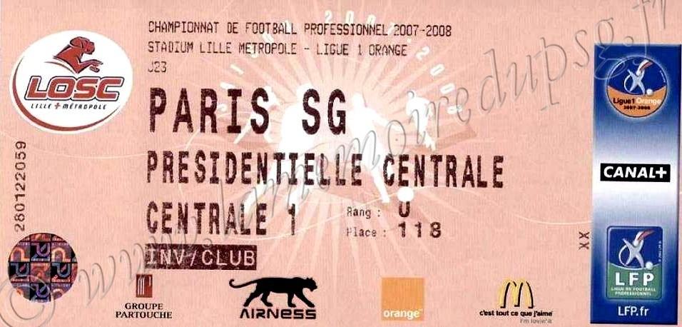 2008-01-26  Lille-PSG (23ème L1)