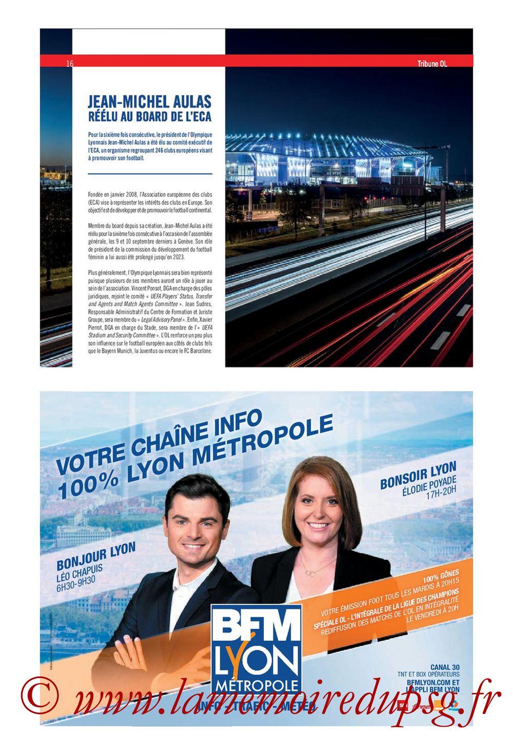 2019-09-22  Lyon-PSG (6ème L1, Tribune OL N°284) - Page 16