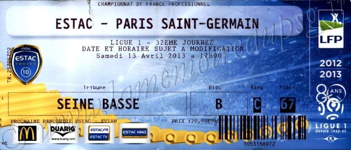 2013-04-13  Troyes-PSG (32ème L1)
